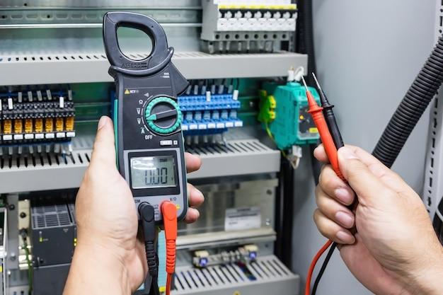 Elektrisches prüfungsmultimeter des digitalzangenmessgeräts mit plobes