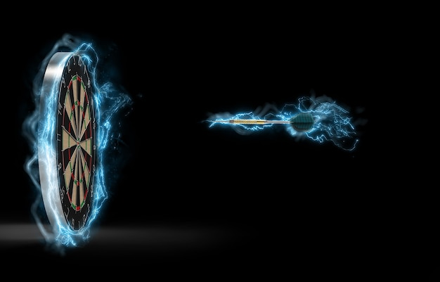 Elektro-dart auf dem weg zum ziel