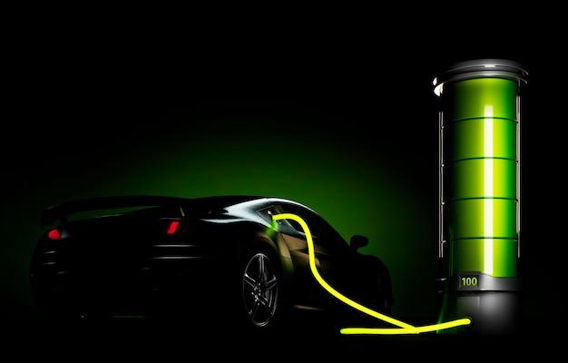 Elektroauto an große batterie angeschlossen