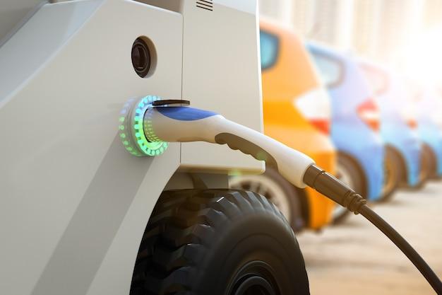Elektroautoladung mit elektroladestation