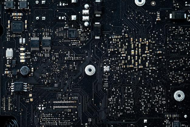Elektronisch auf mainboard-computer, logikplatine