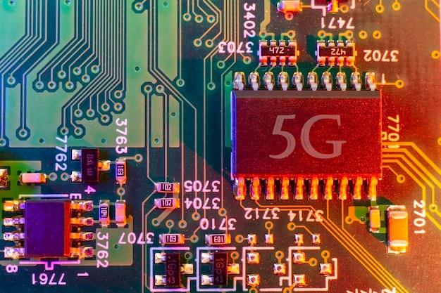 Elektronische platinenkomponenten motherboard digitaler chip technisch-wissenschaftlicher hintergrund