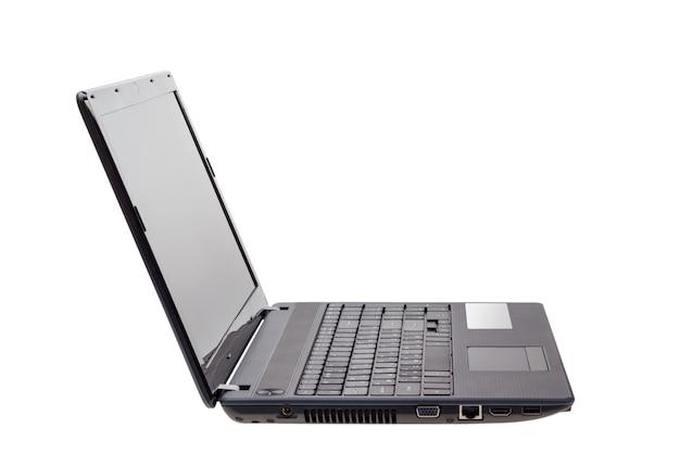 Elektronische sammlung - moderner laptop isoliert auf weißem hintergrund