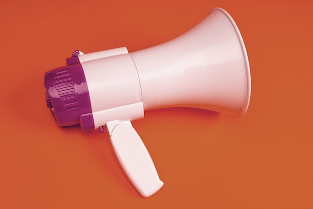 Elektronisches megaphon auf farbe.