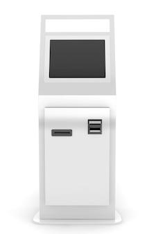 Elektronisches zahlungsterminal auf weißem hintergrund