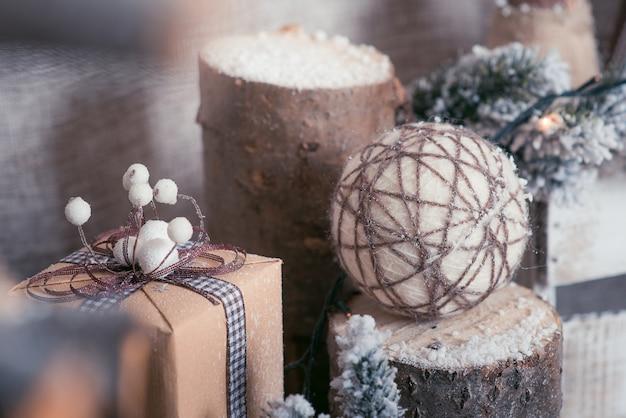 Elemente des neujahrsdekors. ideen weihnachtsschmuck