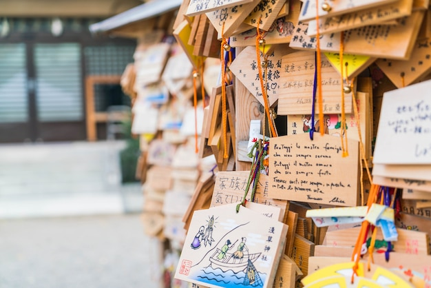 Ema plaques wünscht im senso-ji tempel