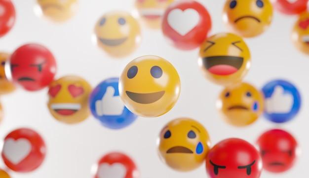 Emoji-symbole mit gesichtsausdrücken.