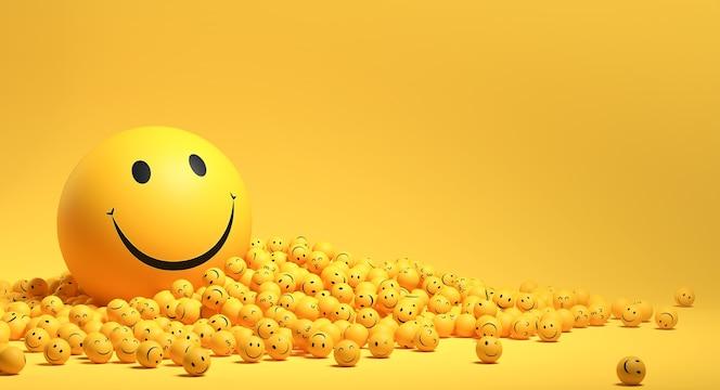 Emojis-arrangement zum weltlächeln-tag