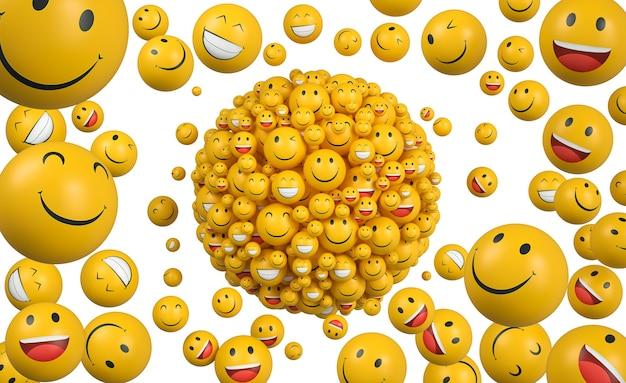 Emojis zum weltlächeln-tag