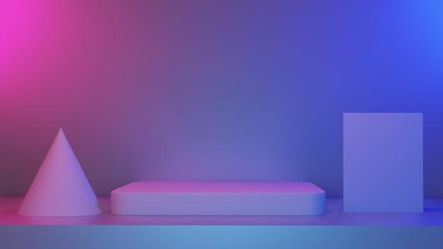 Empty stage minimaler hintergrund für das aktuelle content-werbeprodukt