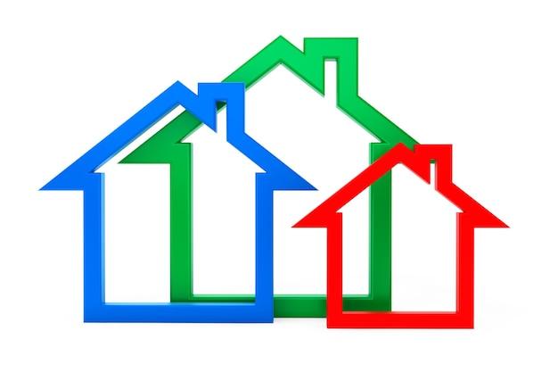 Energieeffizienz-haus-symbole auf weißem hintergrund