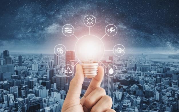 Energieeinsparung, saubere energie und intelligente energie