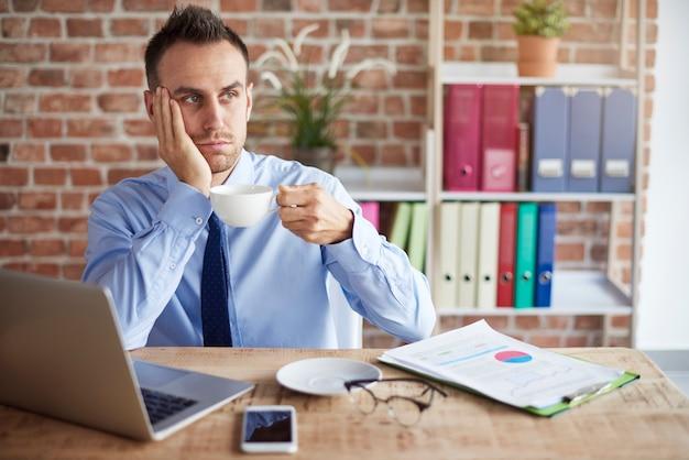 Energiemangel bei der arbeit