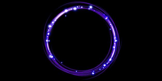 Energiering glühen kreis 3d-rendering-technologie abstrakten hintergrund