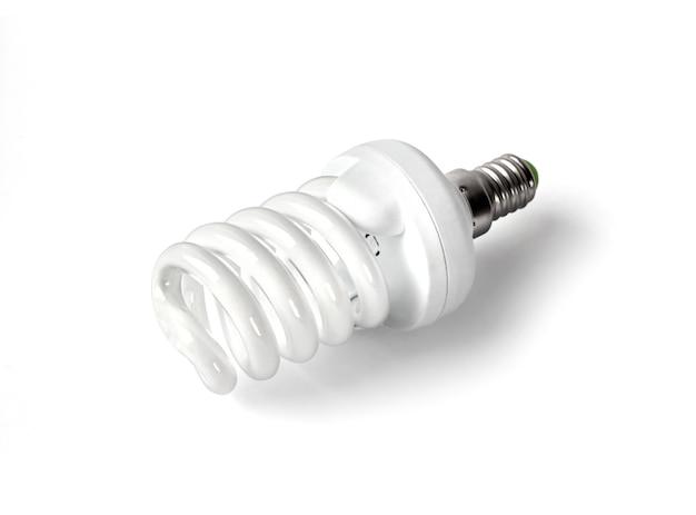 Energiesparende leuchtstoff glühlampe getrennt
