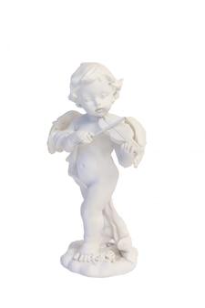 Engel, der den violinenmusik-liebesvalentinsgruß lokalisiert spielt
