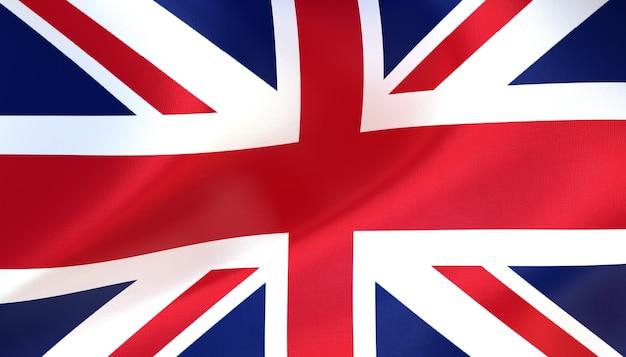 England-flagge 3d-rendering mit textur