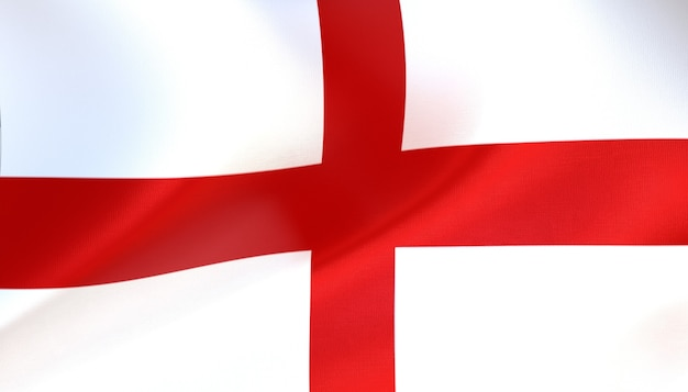 England-flagge rendern mit textur