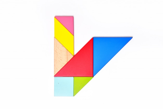 Englisch alphabet farbmosaik