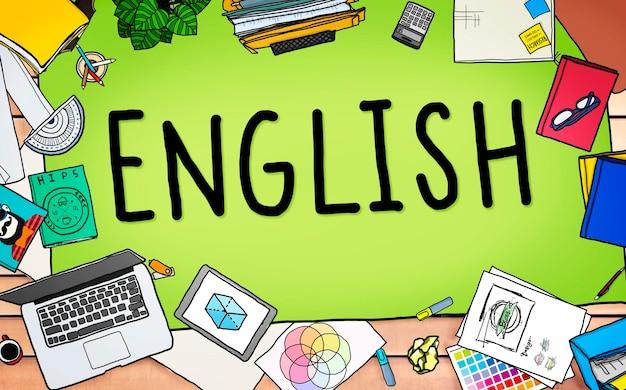 Englisch britisches england sprachbildungskonzept