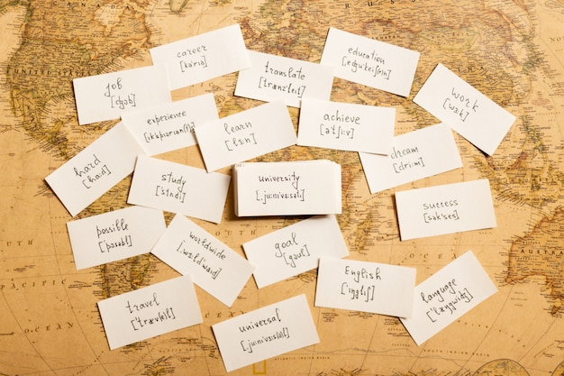 Englische wörter lernen universität