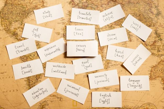 Englische wörter lernen werdegang