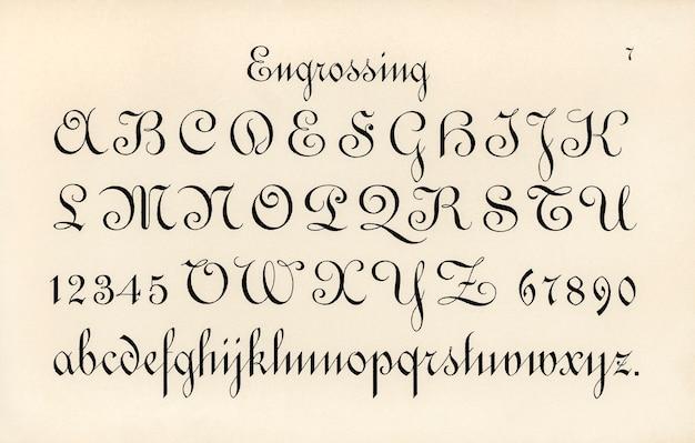 Engrossing von schriftarten
