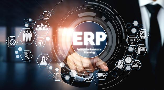 Enterprise resource management erp-softwaresystem für den geschäftsressourcenplan
