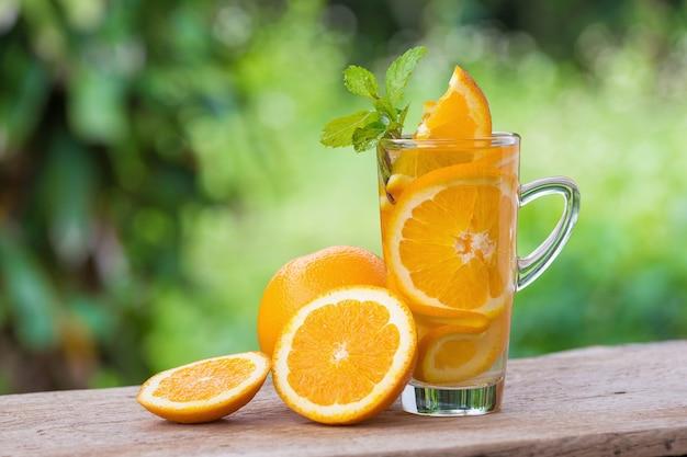 Entgiftung wasser mit orange.