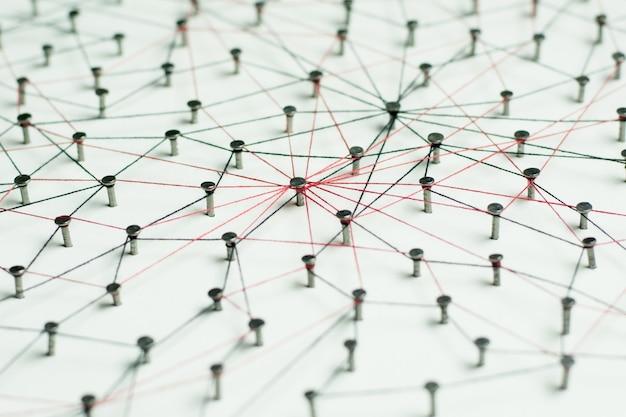 Entitäten verknüpfen. netzwerk, vernetzung, social media, internet-kommunikationszusammenfassung.