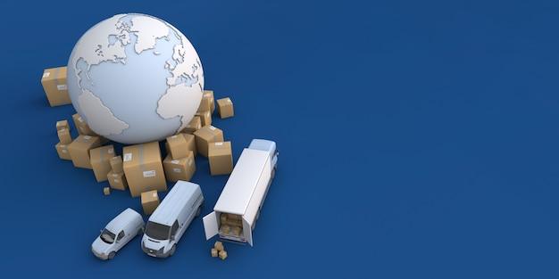 Entladen von lkws im internationalen transportkontext