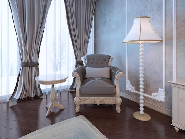 Entspannen sie sich im neoklassizistischen schlafzimmer