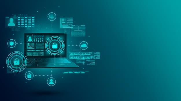 Entwicklung von software zum schutz digitaler daten auf einem laptop.
