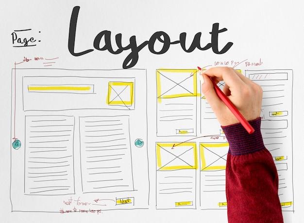 Entwurf eines website-layouts