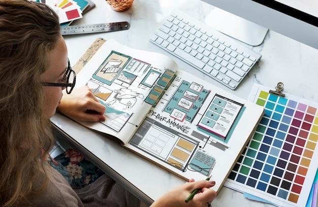 Entwurfsskizze des webvorlagen-layouts