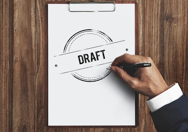 Entwurfsskizze entwurfsvorschau strukturvorlagenkonzept