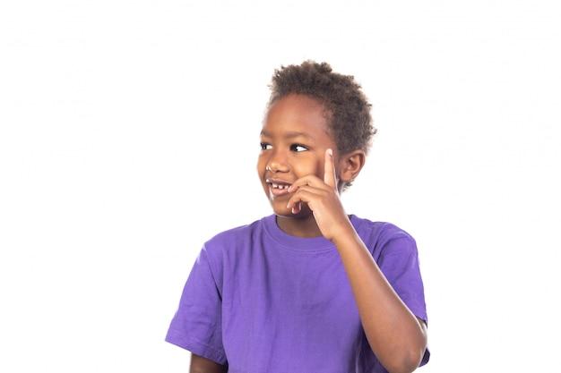 Entzückendes afroamerikanisches kinderdenken