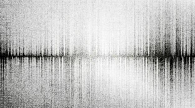 Erdbebenwelle auf grauem papierhintergrund