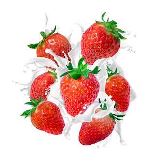 Erdbeer-milch-spritzer