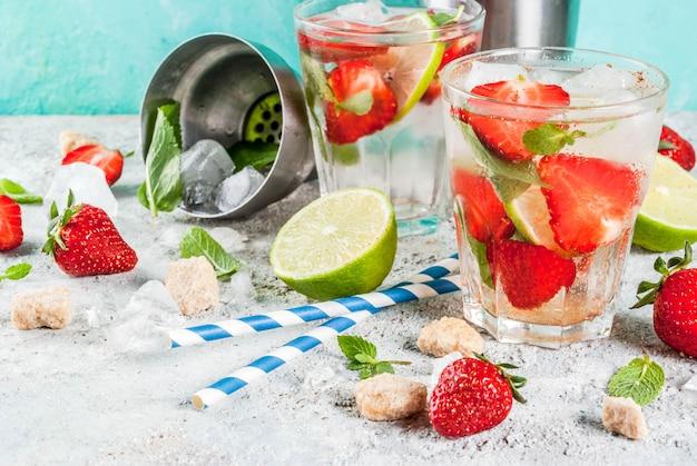 Erdbeer-mojito-cocktail
