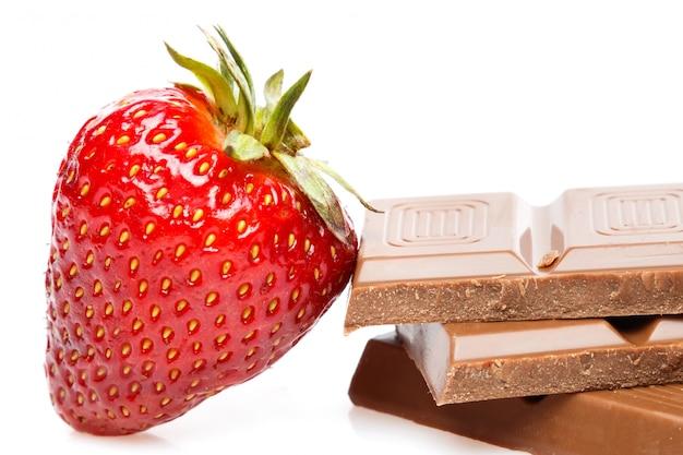 Erdbeer-schokoriegel
