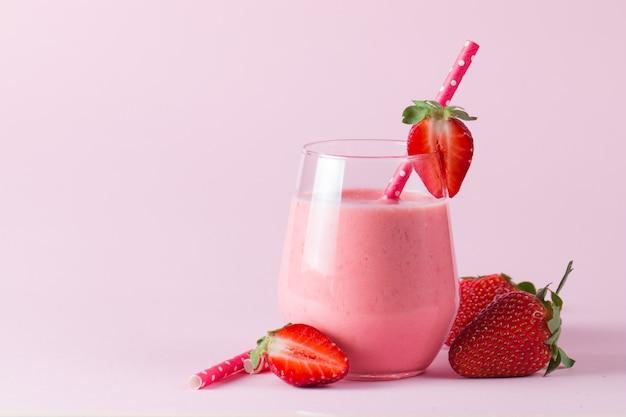 Erdbeer smoothie.