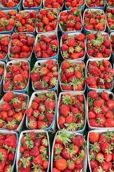 Erdbeere auf dem französischen markt