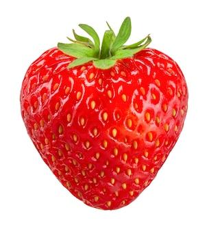 Erdbeere lokalisiert auf weißem beschneidungsweg