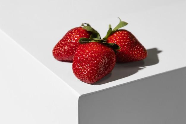 Erdbeeren auf dem podium