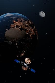 Erde in der nacht.