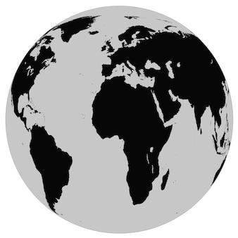 Erdkugel isoliert auf weißer oberfläche. elemente dieses von der nasa bereitgestellten bildes