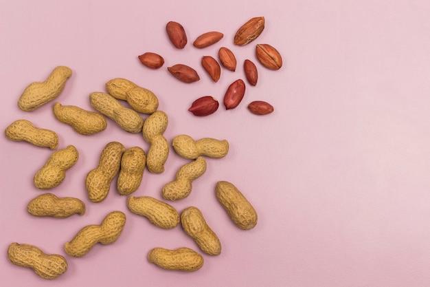 Erdnüsse. vegane proteinquelle und fettsäuren