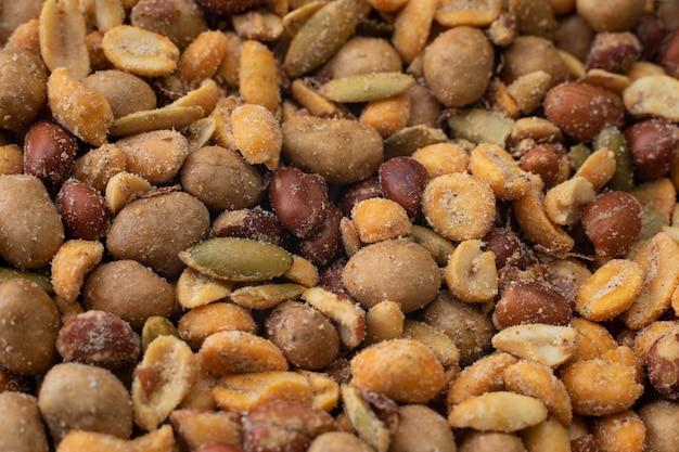 Erdnusshintergrund nuss-mischung